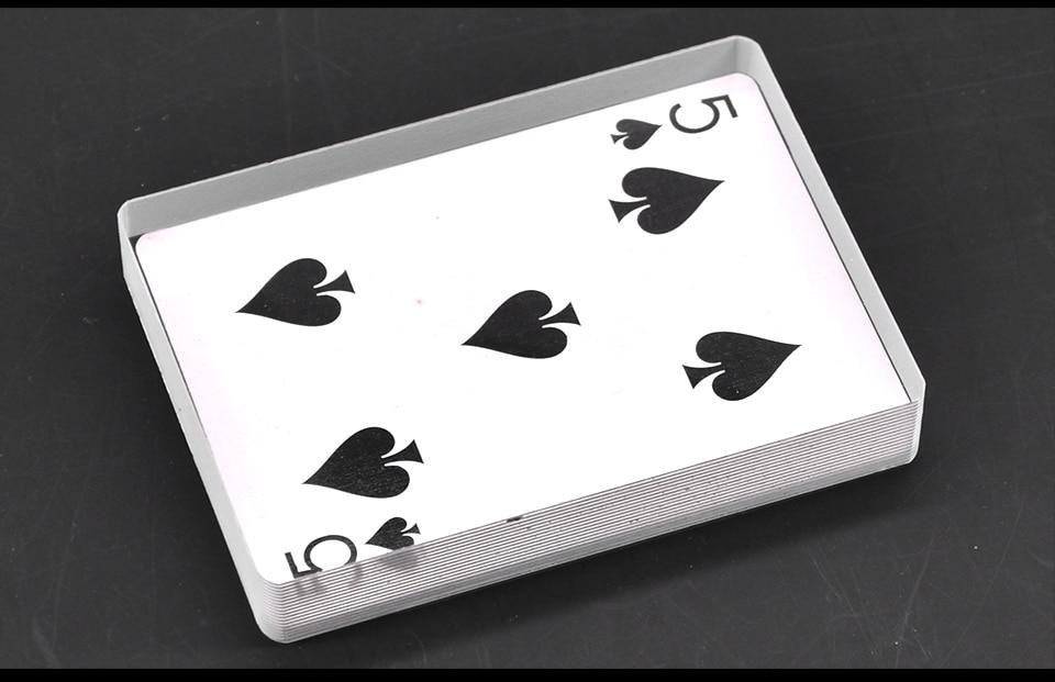 Pont Omni Carte En Verre De Pont Glace Lié Magic Tricks Close Up Carte Illusion Accessoires Gimmick Carte De Signe pour Effacer Bloc Magie