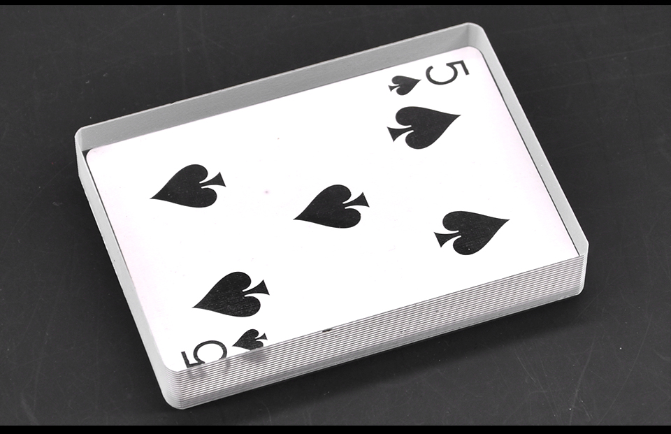 Tarjeta de cristal de cubierta Omni, trucos de magia, trucos de hielo, accesorios de ilusión de tarjeta, tarjeta de signo Gimmick para limpiar el bloque Magie