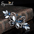 Special New Fashion Butterfly Hair Pins and Clips Synthetic Opal Hair Accessories Wedding Hair Jewelry Gifts for Women FS160426