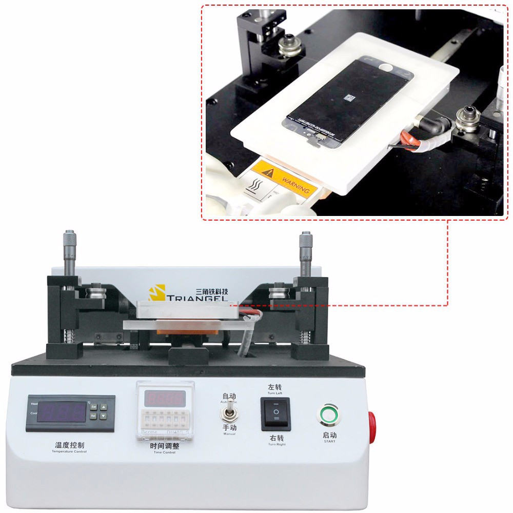 Triangel CP 203 Semi Automatic LCD Separator Max 7inch LCD Touch Screen Glass Separating Machine