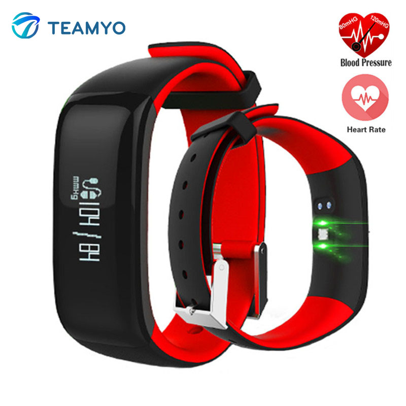Teamyo P1 Smart Band Watches Blood Pressure Heart Rate Monitor Smart-Watch Fitness Bracelet IP67 Pedometer Activity Tracker a3r elderly kids smart watch blood pressure heart rate monitor tracker sos anti lost gps wifi tracking old men women watches