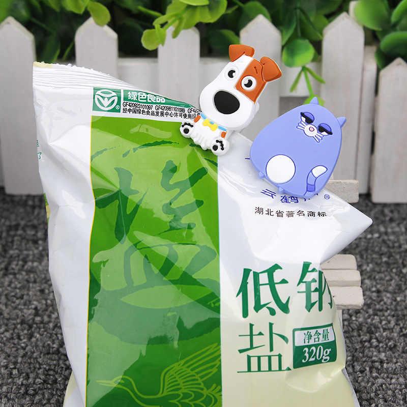 חיות חמודות Cartoon ארנב כלב חתול חיות מחמד קליפים לילדים Kawaii חידוש דקורטיבי קליפים מזון תיק אחסון משרד ביתי