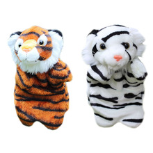 New Tiger Hand Puppet Magic Forest Series Baby Kids Child Soft Doll Parent-child Games Plush Toys Educational Animal Toy