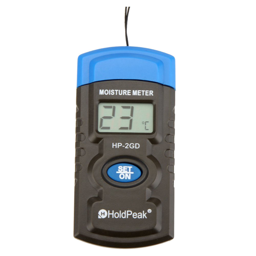THGS HoldPeak HP-2GD 3 3-in-1 Mini LCD Temperature Humidity Meter Concrete/Wood/Building/Material Moisture Meter
