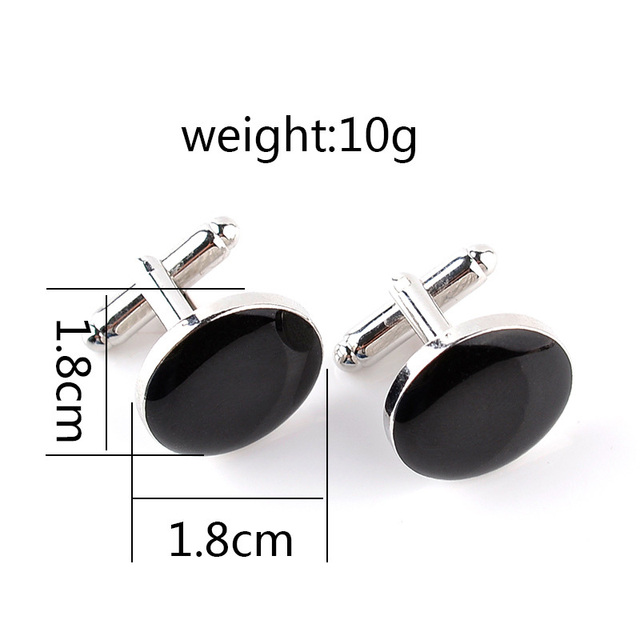 Simple Black White Button Luxurious Wedding Cufflinks