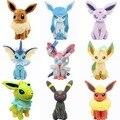 Mais novo Sylveon Umbreon Espeon Eevee Jolteon Vaporeon Flareon Glaceon Leafeon Stuffed Boneca Pokemon Plush Toy Pikachu Presente Série