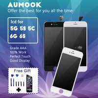 100% calidad AAA para IPhone 5 y 5s 5c 6 6s Pantalla LCD digitalizador montaje reemplazo sin píxeles muertos para IPhone Pantalla 4,7