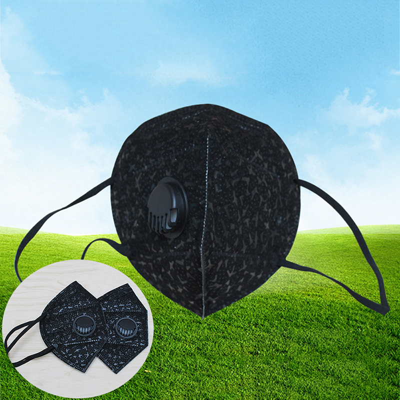 1 Pc Pm2.5 Anti-polvo Anti Niebla Máscara Con Una Válvula De Respiración Máscara De La Boca De Filtro De Carbono Activado Respirador Máscara Cuidado Facial Herramienta Calidad Superior (In)