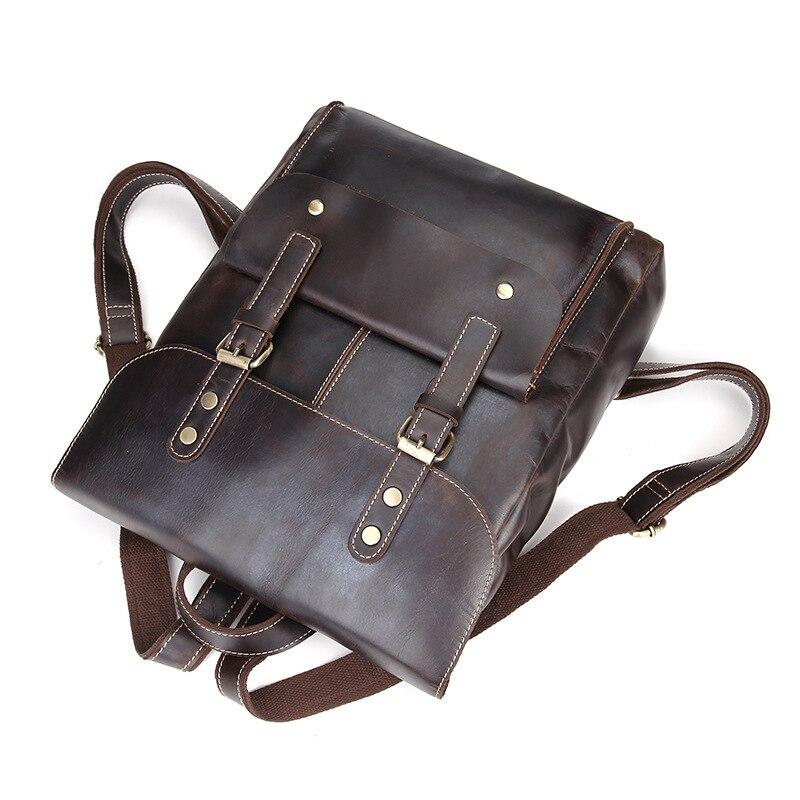 Fashion Casual Style Genuine Cowhide Leather Men's Backpack Shoulder Sling Bag For Man LS8878
