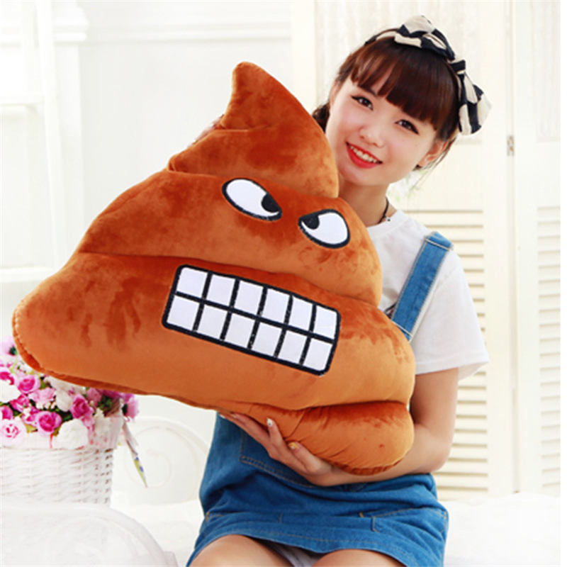 Feces bucket pillow plush toys struggle dolls Funny Kid Baby Gift Cute Emoji Poop Cushion Fake Turd Classic Shit Practical Joke kimpets pet dog shit scooper feces clip tool