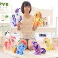 25/35/45cm Cartoon my beautiful little Rainbow horse Soft Plush poni Animal dolls for Baby children Gift toys