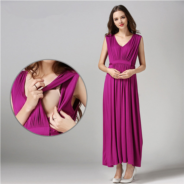 2016 Mama Love Maternity Clothes Long Maternity Dresses Nursing ...