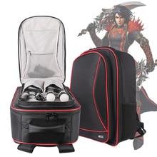 สำหรับsony vr + ps4เครื่องเล่นวิดีโอเกมเกมกรณีกันน้ำดิจิตอลปกป้องถุงเก็บมัลติฟังก์ชั่ท่องเที่ยวc arryไหล่กระเป๋า