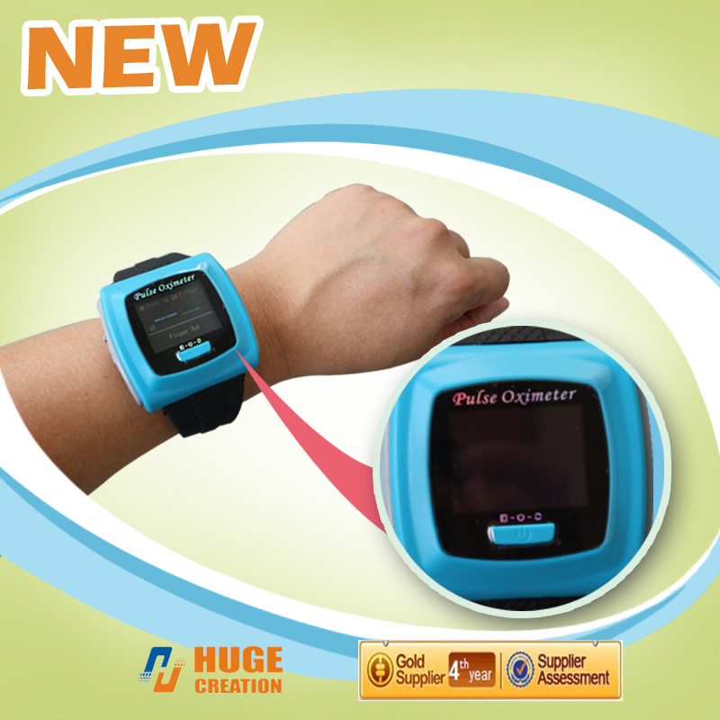 CE Wrist pulse oximeter Fingertip Color OLED Display SpO2 Oximeter Probe+ Software,CMS50F Blood Oxygen Monitor oximeters