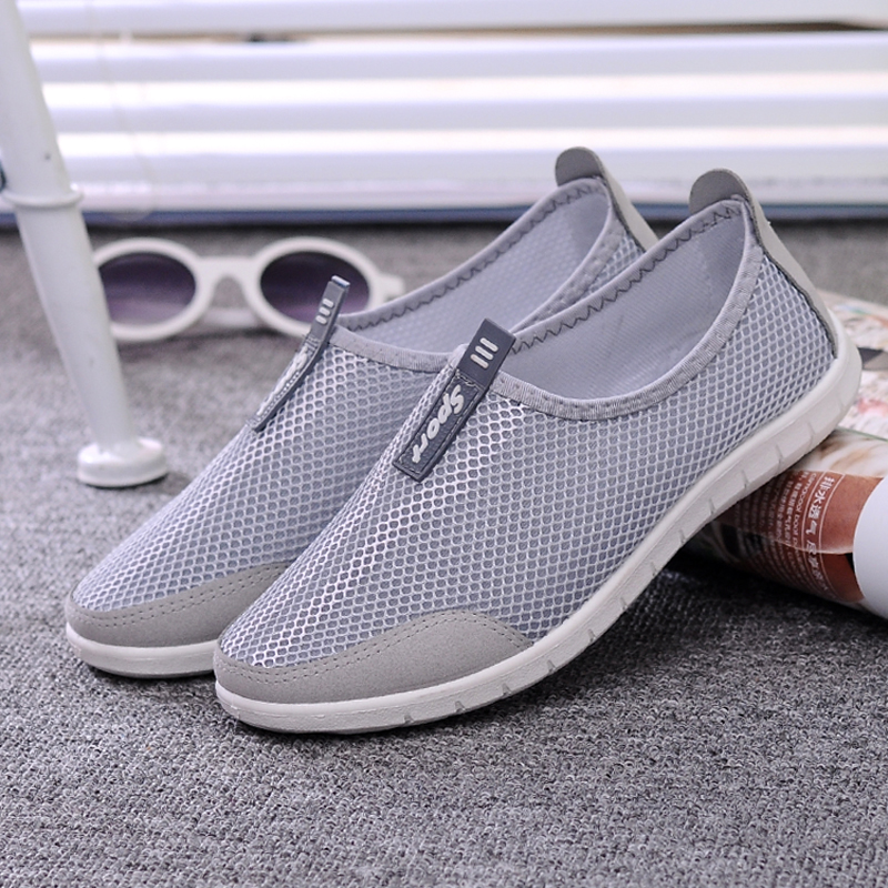 Mujeres Transpirable Zapatos de Malla de Aire Casuales Pisos Sandalias de Verano