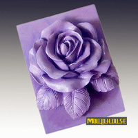 3D rosas molde de Silicone sabão moldes molde vela rose flor bolo silicacone ferramentas panelas mold Dining Bar molde
