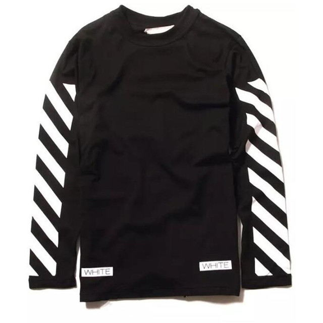 64770ab62449 2016 Fashion Men Off White 13 Stripe Long Sleeve T Shirt Men Casual Cotton  O-Neck Streetwear Virgil Abloh Hip Hop Tshirts