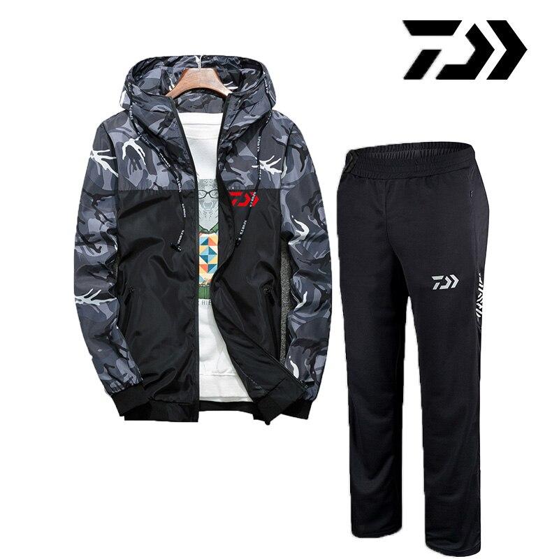 2019 Daiwa Hommes De Pêche Vêtements Costumes D'été Respirant Anti Uv Pêche Chemises Et Pantalon De Pêche En Plein Air DAWA Définit Survêtements