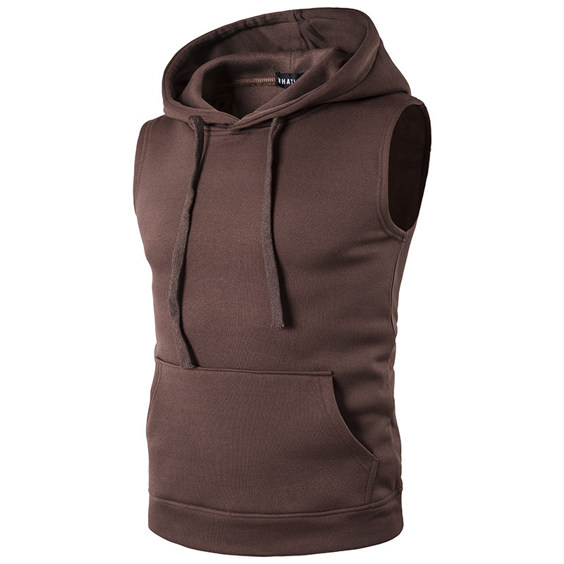 Hooded   Tank     Top   Men 2017 Brand New Bodybuilding Stylish Sleeveless Hooded Vest Multi-Color Casual Slim Fit Men Clothing XXL