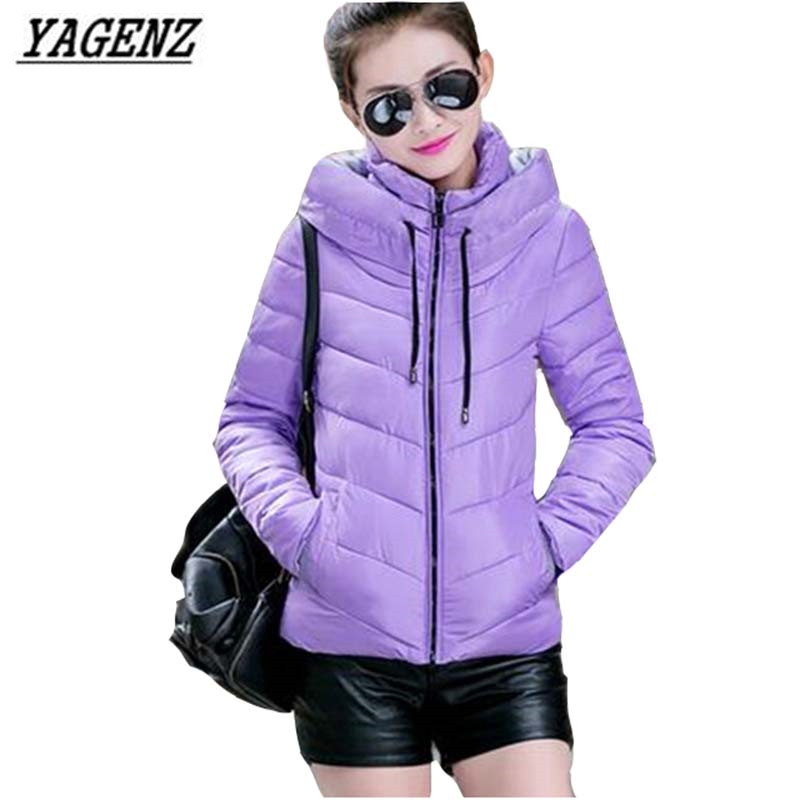 Cotton Short Paragraph Clothes 2017 New Winter Hooded Fashion Korean Slim Women Gloves Cotton Clothing Factory Direct Sale A15