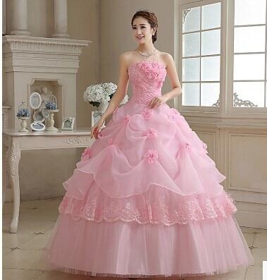 Princess Pink Bride Dresses
