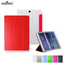 Leather Cover Case For Samsung Galaxy Tab A 9.7 T555 T550 9.7″ Tablet PC Back Case Stand Clear Stylus Screen Protector 2016 Skin