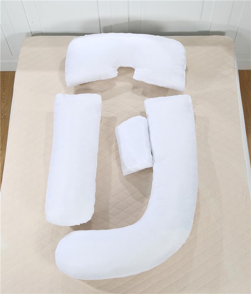Хлопковая Длинная Подушка для беременных в форме G, подушка для тела на танкетке, подушка для путешествий, подушка для сна, Подушка для спины,... - 5