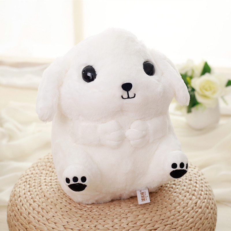 1pc 32cm Super Kawaii Chubby Dog Plush Toy Stuffed Soft Animal Puppy Dog Plush Kids Doll Cute Lovely Birthday Gift for Children 1pcs 22cm fluffy plush toys white eyebrows cute dog doll sucker pendant super soft dogs plush toy boy girl children gift