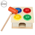 Baby Wooden Noise Maker Knock Ball Kids Hand Hammering Ball Box Kids Early Learning Educational Toys Montessor Christmas Gift