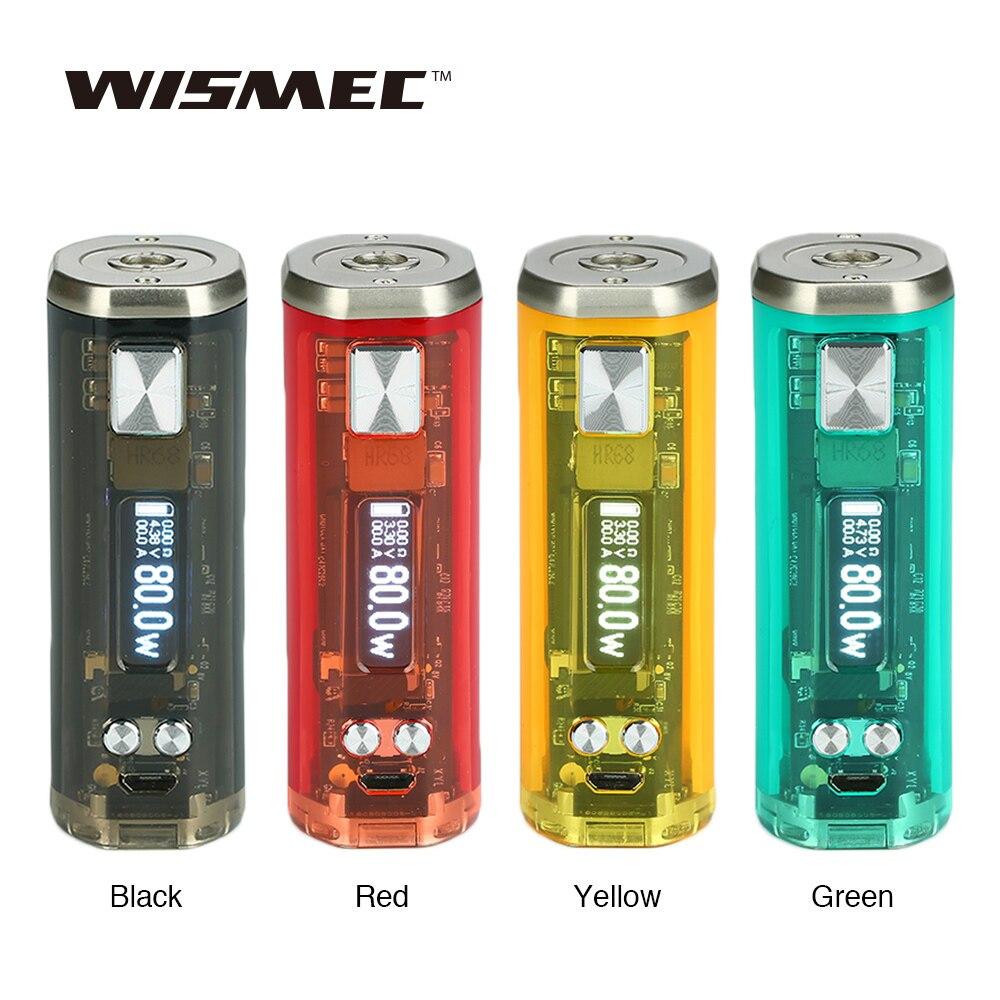 Date D'origine WISMEC SINUEUX V80 TC Boîte MOD avec 0.91-pouces OLED Écran N ° 18650 Batterie 2A Charge Rapide vs Sinueux P80 Ecig