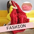 Coreia do estilo fashion thick fio para fazer malha chapéu/lenço/cobertor 250g diy super grande malha de fios de lã
