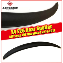 цена на X4 F26 Spoiler stem lip Wing P style FRP Unpainted For BMW X Series Auto Car rear trunk diffuser stem Spoiler wings 2014-2017