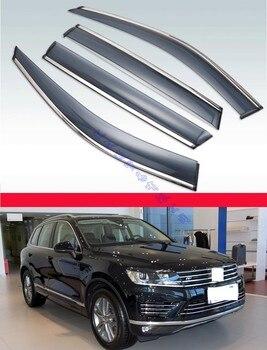 For VW Touareg 2011-2017 ABS Plastic Window Wind Deflector Visor Rain/Sun Guard Vent