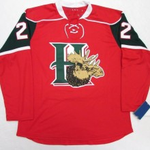 82eb2e914 HALIFAX MOOSEHEADS RED 22 NATHAN MacKINNON Hockey Jersey Embroidery  Stitched Customize any number and name Jerseys