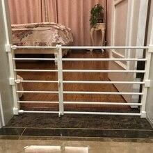 Детская лестница забор дверь детский забор Манеж для собаки забор Детская безопасность ворота домашние выдвижные ПЭТ изолирующие ворота комната пластик