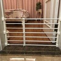 Baby Treppen Zaun Tür Baby Zaun Laufstall für Hund Zaun Baby Sicherheit Tor Haustiere Innen Versenkbare Pet Isolieren Tor Zimmer kunststoff