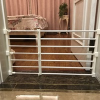 Baby Stair Fence Door Baby Fence Playpen for Dog Fence Baby Safety Gate Pets Indoor Retractable Pet Isolating Gate Room Plastic
