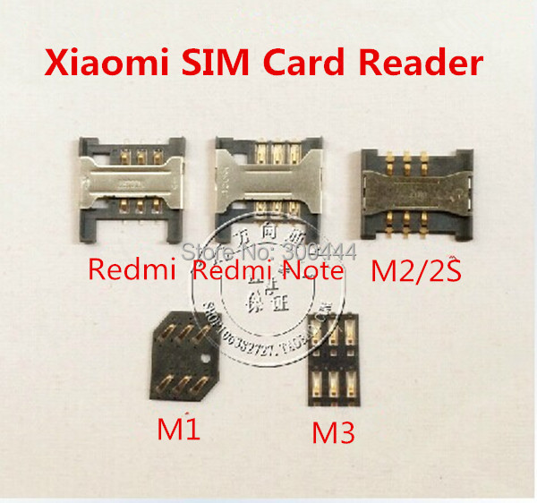 WEIHONG Connector 5 PCS Card Reader for xiaomi Redmi 3S