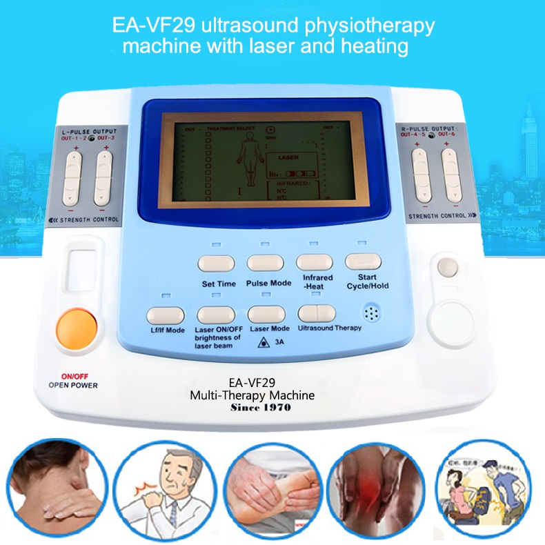 Combination Ultrasound Tens Acupuncture Laser Physiotherapy Machine EA-VF29  Ultrasonic Medical Equipment Free Shipping