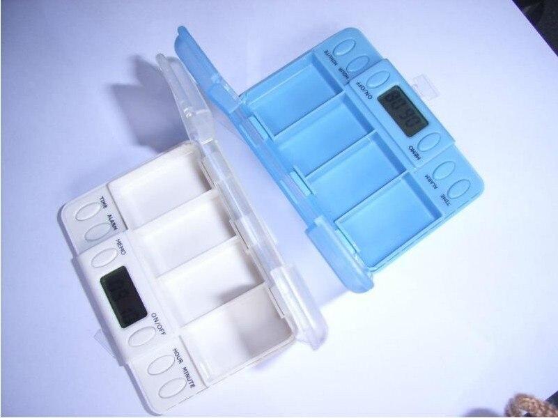 Laiwen 4 alarms pill timer reminder pill box timer medication reminder alarm HC-7000B free shipping pill cases with timer