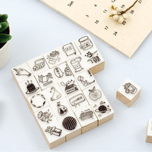 Vintage HOBO series wood stamp DIY craft wooden rubber stamps for scrapbooking stationery scrapbooking standard stamp lychee vintage wood box rubber stamps wooden scrapbooking standard stamp diy craft stamps decoration for handmade gift