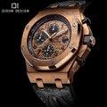 Homens Relógio de Luxo Da Marca Cintos de Grife Homens de Alta Qualidade Em Aço Inoxidável Relógio de Quartzo Hora orologio montre reloj relogio masculino