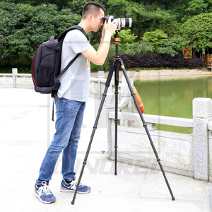 Image 4 - QZSD Q1000C 탄소 섬유 전문 삼각대 45mm 파노라마 28mm 튜브 15kg로드 용량 럭셔리 DSLR 카메라