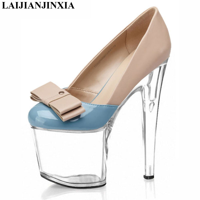 LAIJIANJINXIA New <font><b>hot</b></font> <font><b>sales</b></font> new spring <font><b>summer</b></font> 2018 shoes woman classic <font><b>style</b></font> <font><b>sexy</b></font> 20cm high heels platform pumps party shoes image