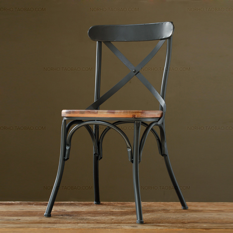American antique wrought iron bar chairs high chairs coffee chair bar stool  wood chair-in Bar Stools from Furniture on Aliexpress.com   Alibaba Group - American Antique Wrought Iron Bar Chairs High Chairs Coffee Chair