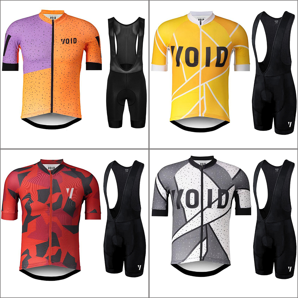 2018 New Men's Cycling Jersey Set VOID Short Sleeve with GEL Pad Quick Dry Pro Team MTB Bicycle Bike Road Riding Clothing Set xintown summer breathable mens team short sleeve cycling jersey riding clothing polyester bike set fluorescent shark