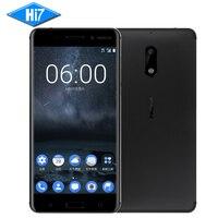 Новинка 2017 года оригинальный Nokia 6 мобильный телефон 4 г LTE Dual SIM Qualcomm Octa Core 5,5 ''отпечатков пальцев 4 г Оперативная память 64 г Встроенная память