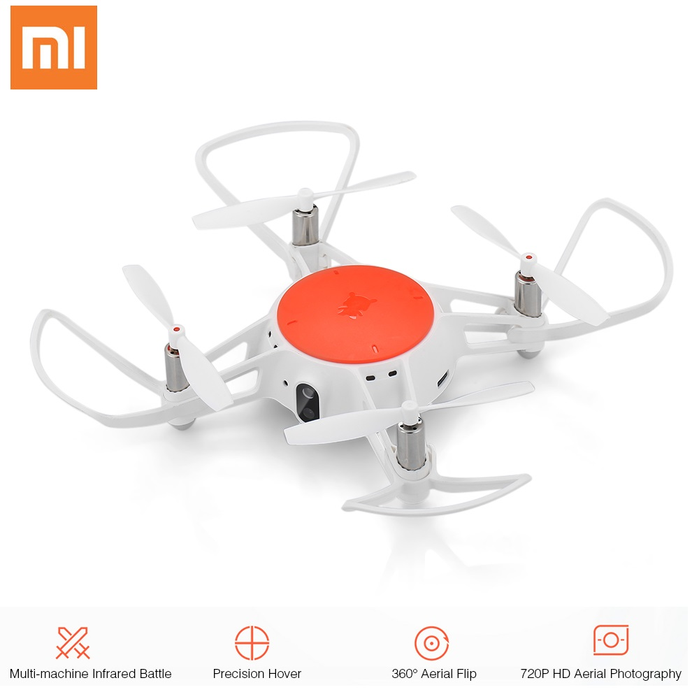 Xiaomi MITU WIFI FPV 360-degree Tumbling RC Camera Drone with 720P HD Camera Multi-machine Infrared Battle 11cm Mini Quadcopter
