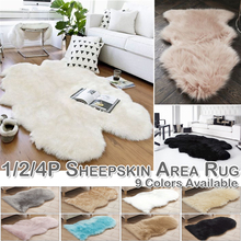 Rug Carpet Sheepskin-Rug Floor-Sofa-Cushions Kitchen Mat Home-Decor Washable Shaggy D20