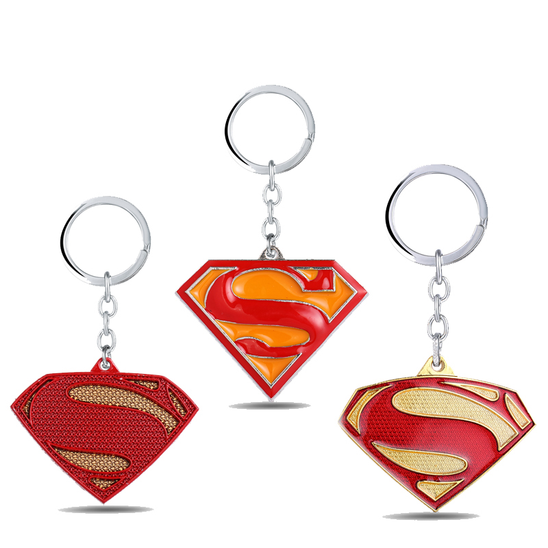MS Superhero Superman Keychain S Logo Key Rings Hot Movie Gift Key chain Jewelry Key Holder for Car YS10968